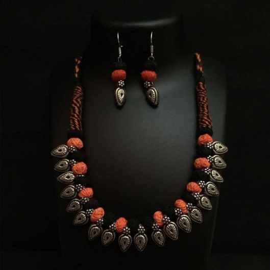 German Silver Thread Necklace
